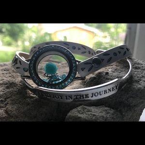 Leather Wrap Bracelet with Locket